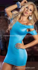 Sexy PVC Mini Dress