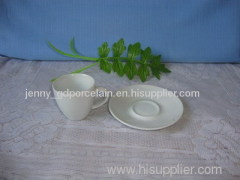 pure white porcelain cup&saucer