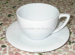 blank cup and saucer