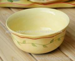 ceramic decal bowl