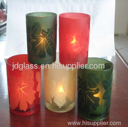 colored candle holder cups glassware