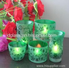 2oz colored candle cups glassware