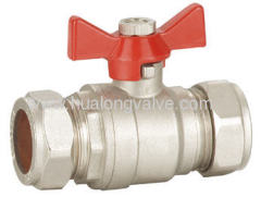 H-03203 with butterfly handle brass ball valve FxF