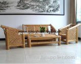bamboo chairs and desks