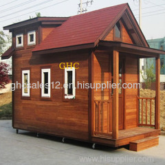 assembled bamboo shed