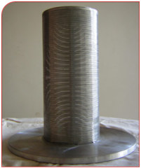 Wedge wire netting