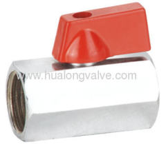 red handle Mini Ball Valve