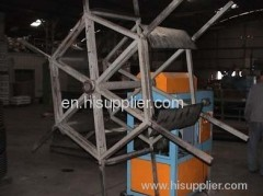 Corrugated optic duct protection sleeve pipe production line