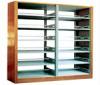Open style metal book shelf