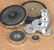 ferrite holding systems with center hole