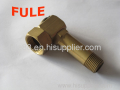 Brass OEM Precision machining parts with female and male thread