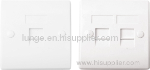 Dual port face plate 86 type