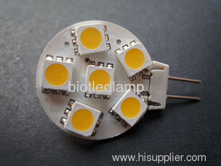 G4 led light G4 bulbs G4 lamp G4 6SMD led bulb 5050smd