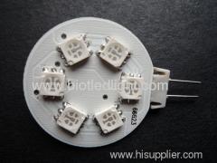 G4 led G4 bulbs G4 lamps G4 6SMD RGB led bulb