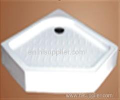 Irregular shower tray