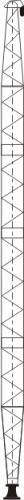 400~600mm aluminum alloy lattice single gin pole