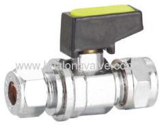 Mini lever gas ball valve