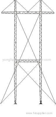 voltage lattice type aluminum alloy emergency restoration tower