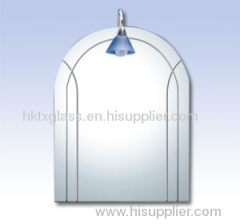 Silver mirror / mirror glass / wall mirror / bathroom mirror / carved mirror