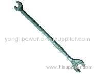 Length double end rigid wrench
