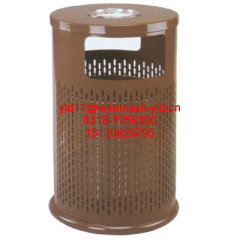 Powder coated Perforated metal meshes dustbins