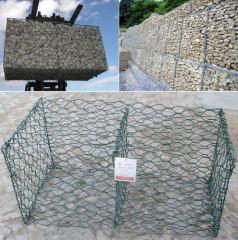 hexagonal mesh stone cage