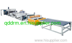 PP Hollow Cross-Section Sheet Extrusion Line/plastic machine