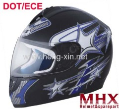 Motorcycle full face helmet with DOT and ECE homologation