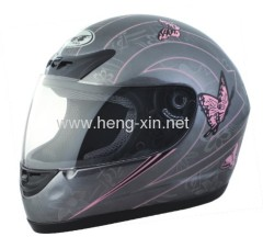 DOT motorcycle helmet with butterfly design