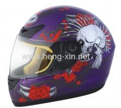 DOT motorcycle full face helmet with skull design
