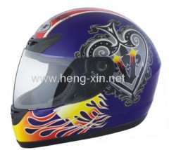 Motorcycle helmet with skull design DOT standard