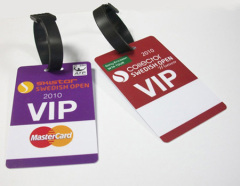 PVC luggage tag/Baggage tag in CR80 Size