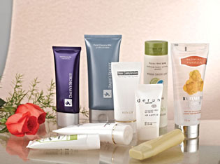 Plastic tube cosmetic package