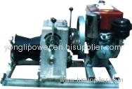 Diesel engine pulling and assiting capstan winch/winch powered steel wire rope pilot rope linear winder