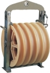 Model 660 large diameter tension stringing pulley block