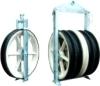 Model 926 large diameter conductor string aerial roller stringing pulley block