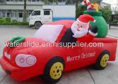 inflatable christmas on car