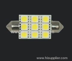 1.5W 9 SMD festoon car bulbs