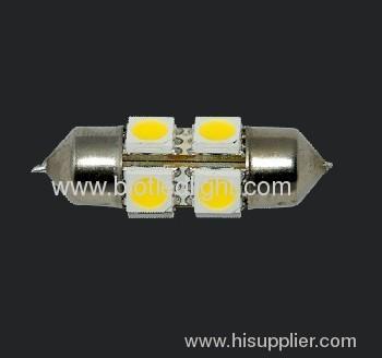 1.2W 8 SMD festoon car bulbs