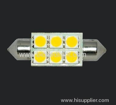 1W 6 SMD festoon car bulbs