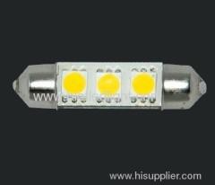 0.6W 3 SMD festoon car bulbs