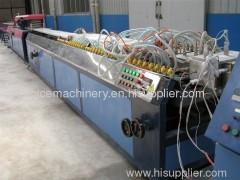 Plastic profile making machine