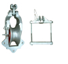 safety locking with conductor guard recommended for tension stringing Universal stringing pulley block