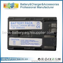Camera battery BP-522 for Canon