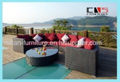 outdoor rattan furniture wicker sofa set
