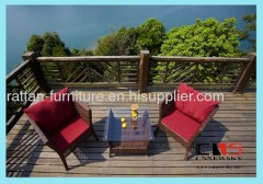 Outdoor wicker furniture tea table wth chairs