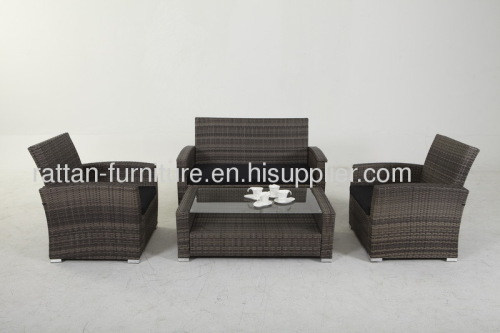 Outdoor rattan furniture sofa set