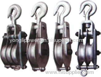 10~20KN coir rope aluminous hoisting tackle pulley