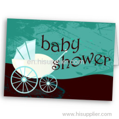 baby shower carriage cards