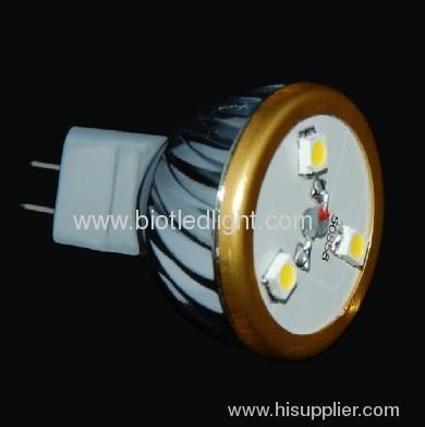 1W 1X3 PCS 0.5W High Power led spot MR8 base